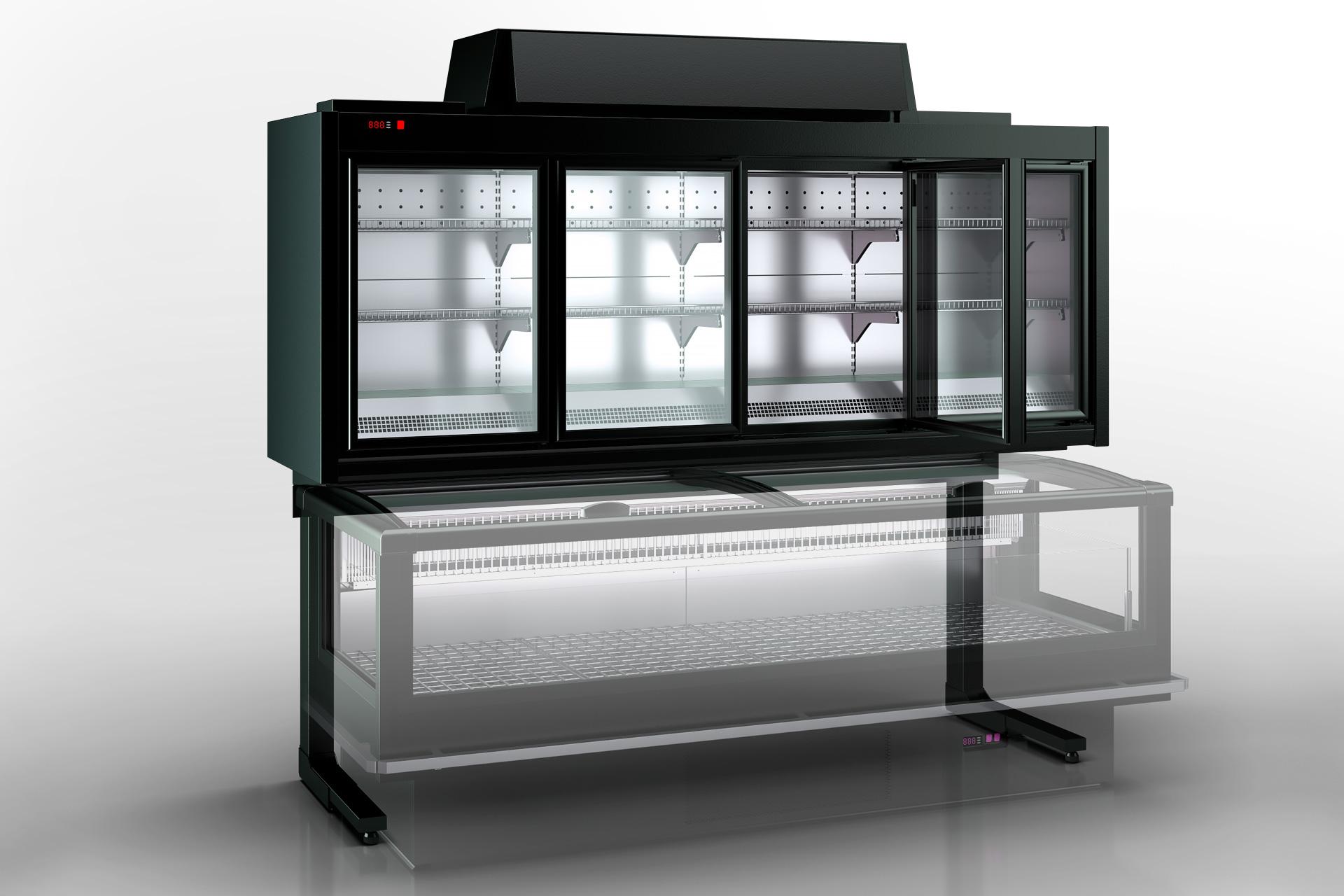 Вітрини для заморожених продуктівХолодильні шафи Kansas VАV 076 HLT D 233-D800A-250