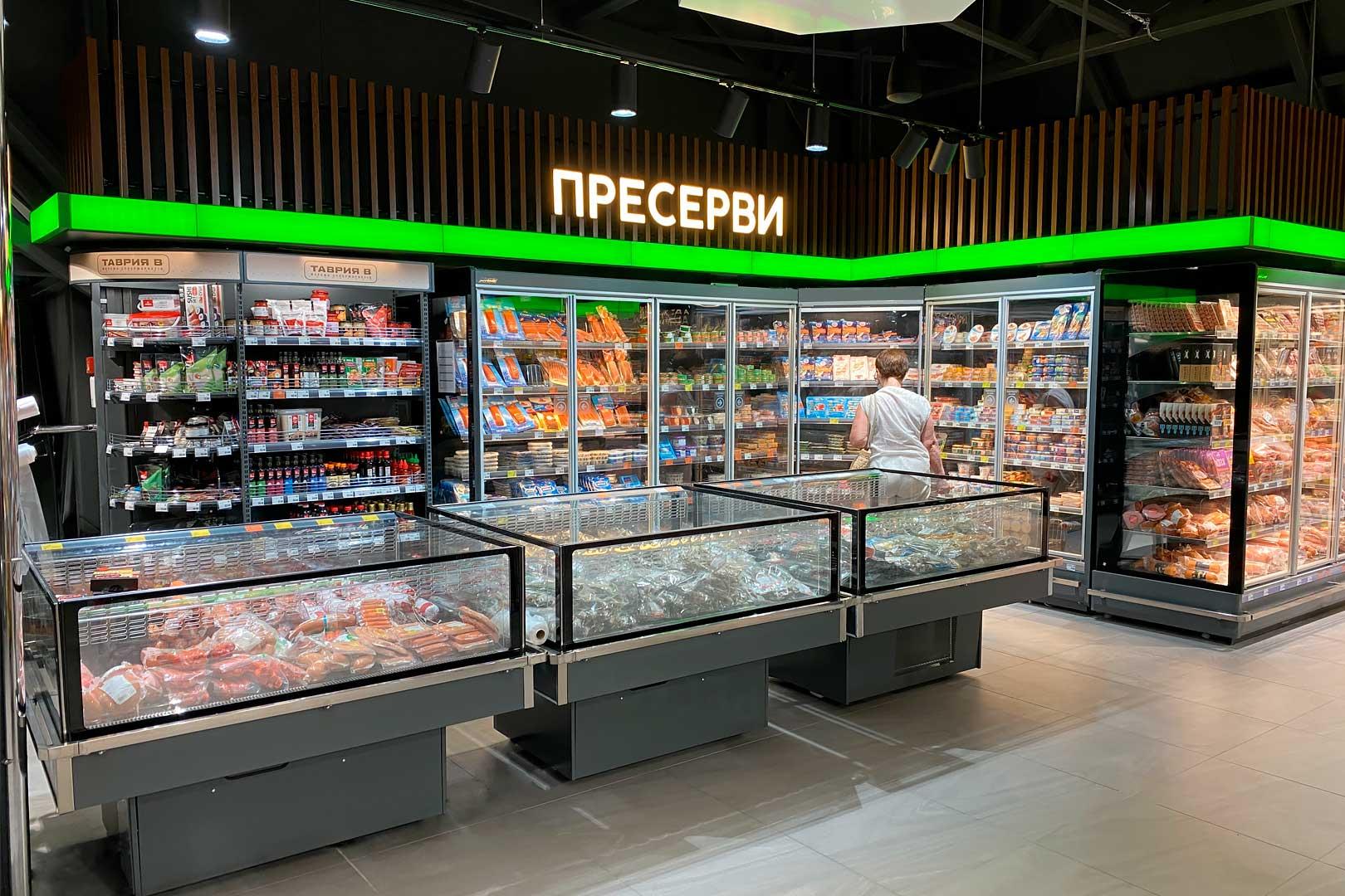 """Präsentationsvitrinen Virginia AC 120 deli self A im Supermarkt """"Tavria V"""""""
