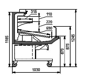 Refrigerated counters Missouri promo MC 100 deli self 120-DLA