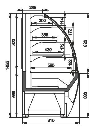 Кондитерські вітрини Dakota AG 085 patisserie OS 150-DLA