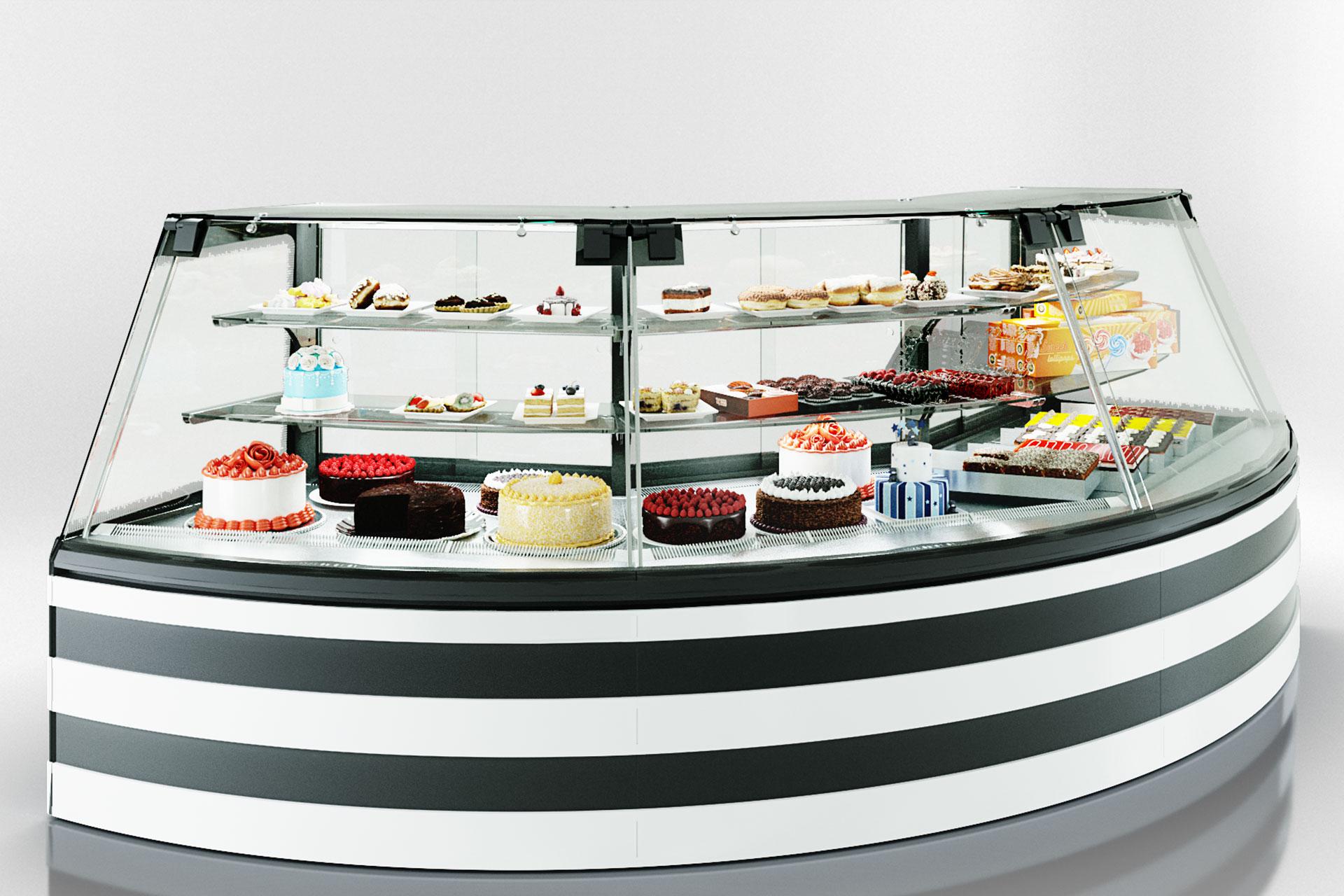 Confectionery counters Dakota Sapphire KA 090 patisserie PS 140-DLA-ER35