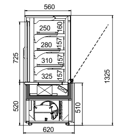 Konditorei-Vitrinen Dakota AC 060 patisserie OS A