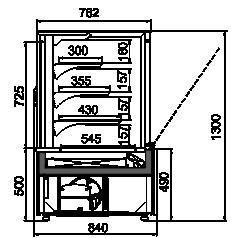 Konditorei-Vitrinen Dakota AC 085 patisserie OS 130-DLA