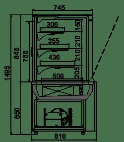 Konditorei-Vitrinen Dakota AC 085 patisserie OS 150-DLA