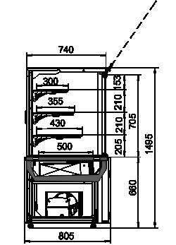 Konditorei-Vitrinen Dakota AC 085 patisserie PS 150-DLA