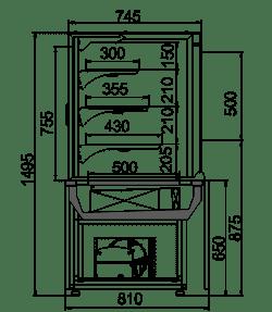Konditorei-Vitrinen Dakota AC 085 patisserie self 150-DLA