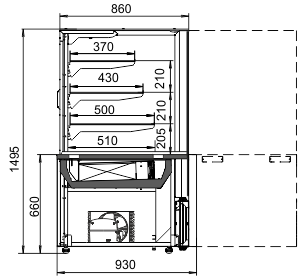 Konditorei-Vitrinen Dakota AC 090 patisserie RS 150-DLA