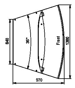 Кондитерська вітрина Dakota sapphire KA 090 patisserie PS 140-DLA-ER35