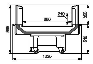 Промоциональные витрины Virginia AC 120 deli self О 086-DLA