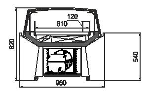 Промоциональные витрины Virginia AK 100 deli self 083-DLA