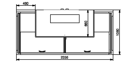 Вітрини для заморожених продуктів торцевий модуль Alaska combi 2 MD MHV 110 LT D/C 200/220-DLM