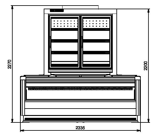 Витрины для замороженных продуктов торцевой модуль Alaska combi 2 MD MHV 110 LT D/C 220-DLM