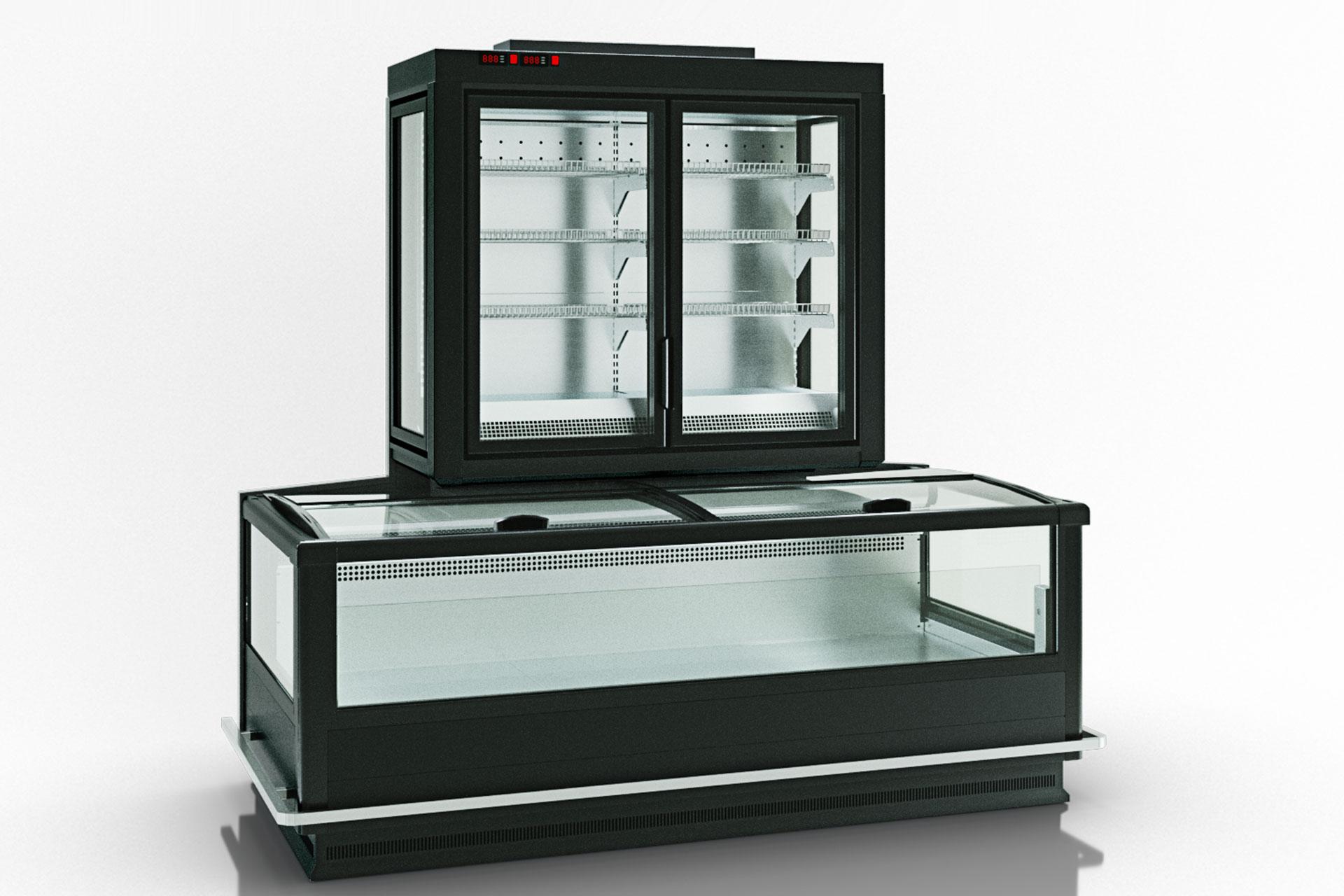 Витрина для замороженных продуктов Alaska combi 2 MD MHV 110 LT D/C 220-DLM-TL