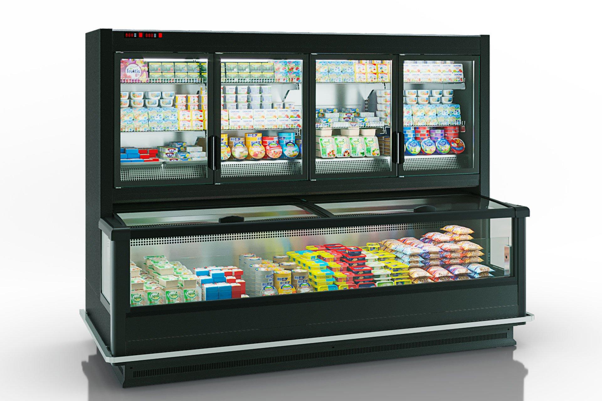 Вітрини для заморожених продуктів Alaska combi 2 MD MHV 110 LT D/C 220-DLM