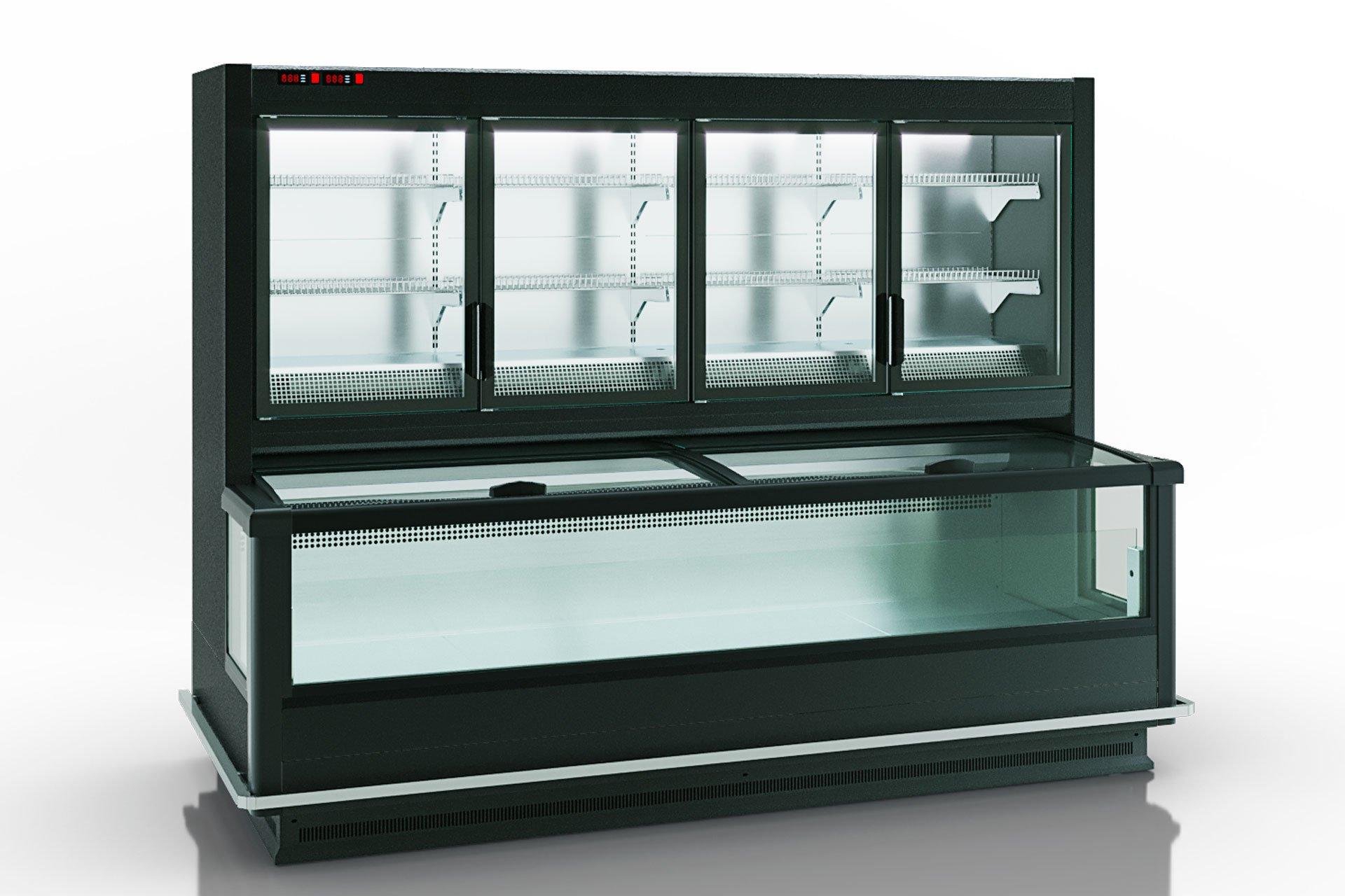 Витрина для замороженных продуктов Alaska combi 2 MD MHV 110 LT D/C 200-DLM