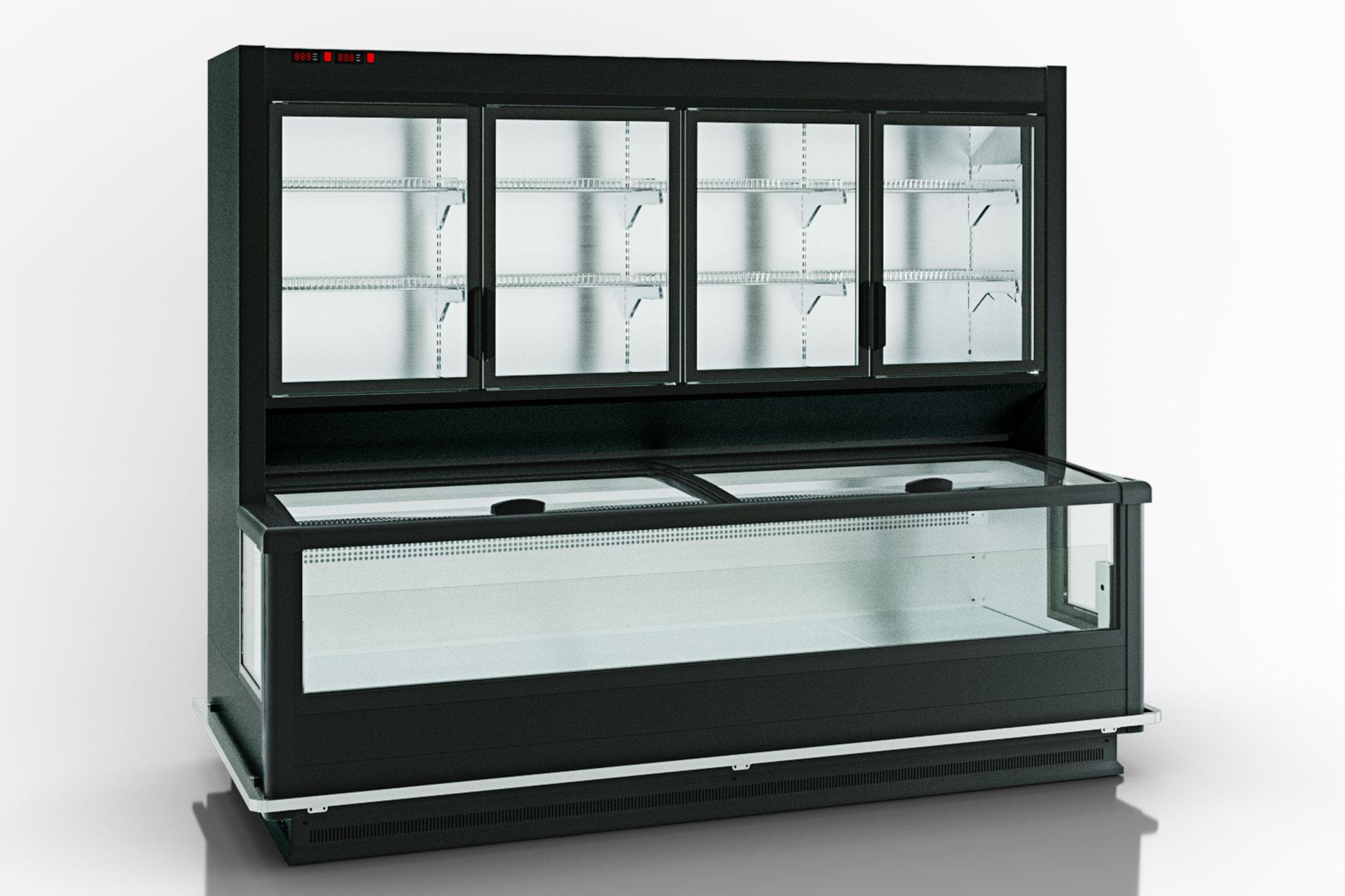 Вітрина для заморожених продуктів Alaska combi 2 SD MHV 110 LT D/C 220-DLM