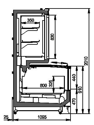 Vitrinen für Gefriergüter Alaska combi MHV 110 LT D/C 200-DLM