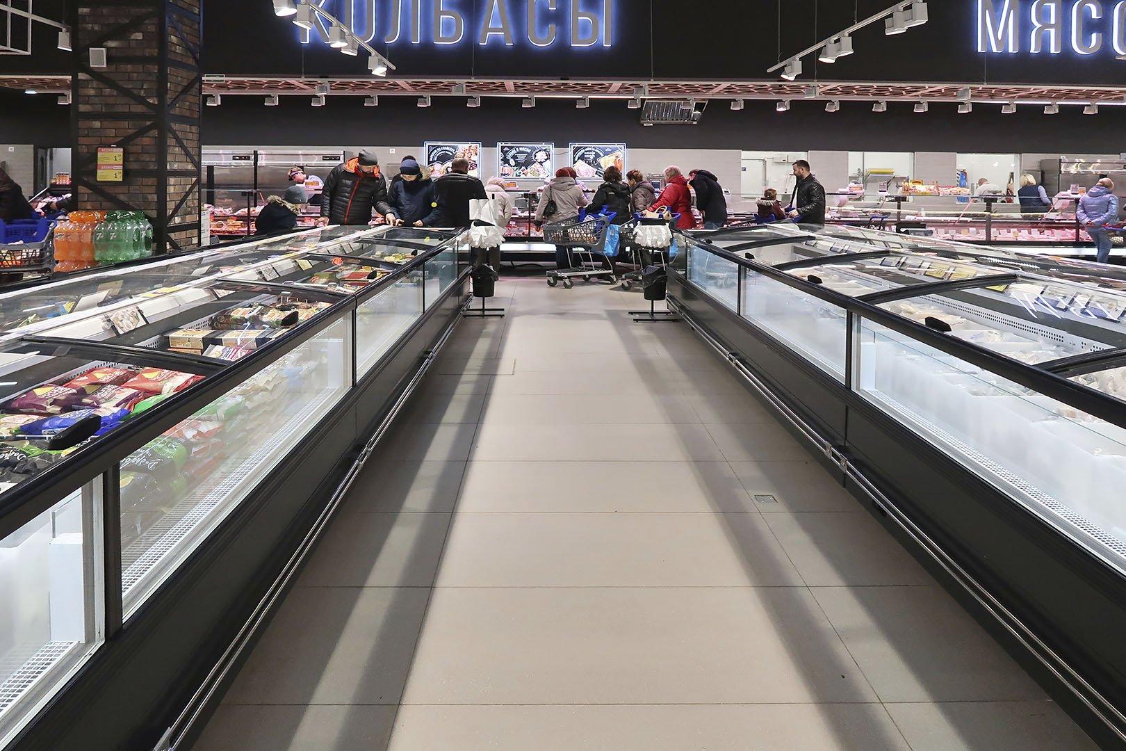 """Vitrinen für Gefriergüter Yukon cube MH 160/200 LT O/C M im Supermarkt """"Vitalur"""""""