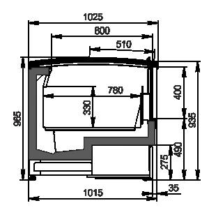 Vitrinen für Gefriergüter Alaska wall AH 100 LT С 094-DLA