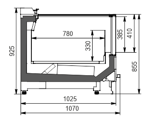 Vitrinen für Gefriergüter Alaska wall MV 100 LT С 094-DLM (option)