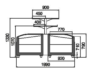 Витрины для замороженных продуктов Super AH 092 LT C 079-SLA с суперструктурой