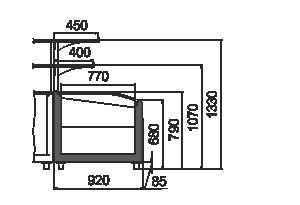 Вітрини для заморожених продуктів Super AH 092 LT C 079-TL-SLA з суперструктурою