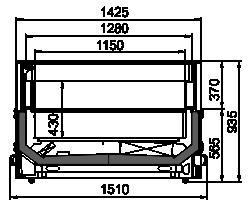 Vitrinen für Gefriergüter Alaska MH 150 LT O 094-DLM