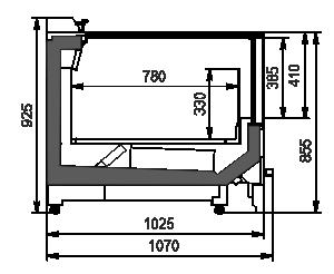 Frozen foods units Alaska wall MV 100 LT C M (option)
