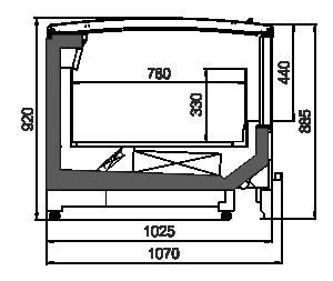 Vitrinen für Gefriergüter Alaska wall MV 100 LT С 094-DLM