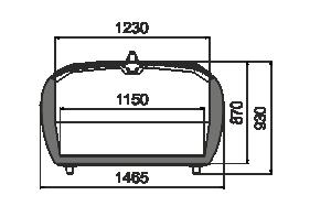 Vitrinen für Gefriergüter Dupla AH 081 LT C 090-SLA-TL - stirnseitig Modul
