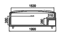 Vitrinen für Gefriergüter Super AH 092 LT C 079-SLA stirnseitig Modul