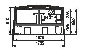 Vitrinen für Gefriergüter Alaska DE AH 160 LT C 100-SLA