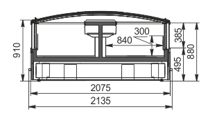 Vitrinen für Gefriergüter Alaska DE AH 200 LT C 100-SLA