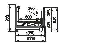 Vitrinen für Gefriergüter Yukon MH 160/200 LT С 088-DLM-TL