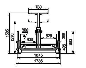 Vitrinen für Gefriergüter Yukon MH 160 LT О 088-DLM mit Aufbau