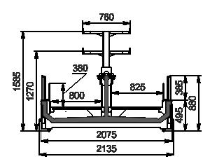 Vitrinen für Gefriergüter Yukon MH 200 LT О 088-DLM mit Aufbau