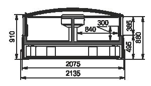 Вітрина для заморожених продуктів Alaska DE AH 200 LT C 100-SLA