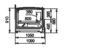 Витрины для замороженных продуктов Yukon MH 160-200 LT С 088-DLM с крышкой