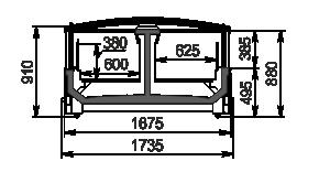 Frozen foods units Yukon MH 160 LT C 088-DLM