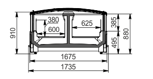 Вітрини для заморожених продуктів Yukon cube MH 160 LT С 088-DLM