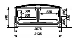 Витрины для замороженных продуктов Yukon MH 200 LT C 088-DLM