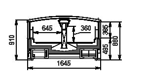 Витрины для замороженных продуктовt Yukon MH 160 LT C 088-DLM