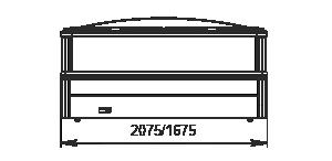 Vitrinen für Gefriergüter Alaska SE MH 160/200 LT C 088-DLM-ТL