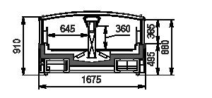 Витрины для замороженных продуктов Alaska SE MH 160 LT C 088-DLM