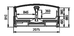 Vitrinen für Gefriergüter Alaska SE MH 200 LT C 100-DLM