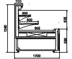 Холодильная витрина Missouri MC 120 cascade self 130-DLM