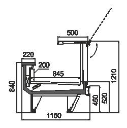 Холодильна вітрина Missouri cold diamond MC 115 deli PS 121-DLM/DLA
