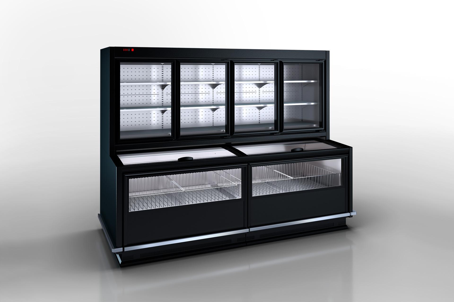 Комбинированные холодильные витрины Alaska combi MHV 110 MT D/C 200-DLM (option)