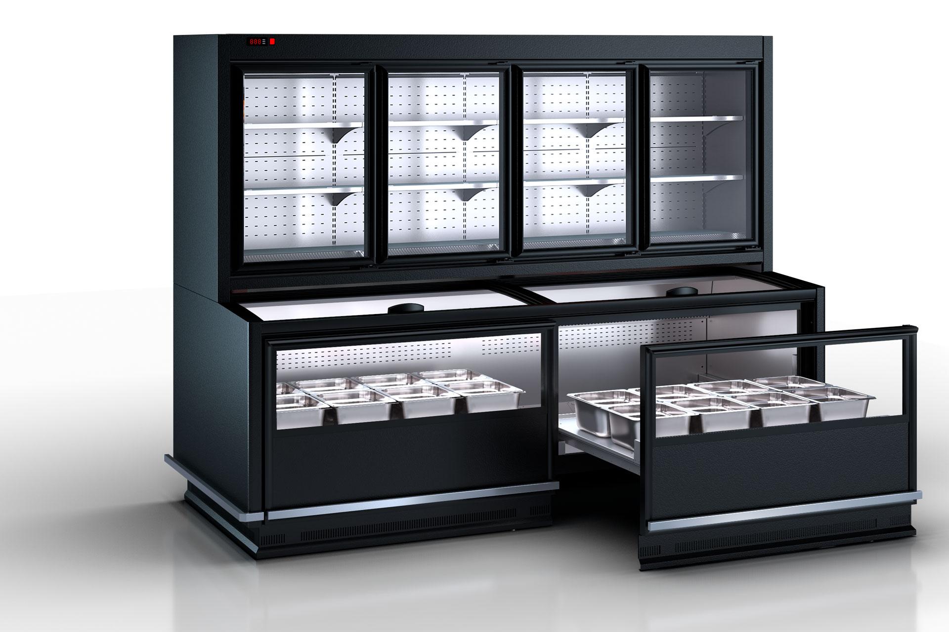 Комбинированные холодильные витрины Alaska combi MHV 110 MT D/C 200-DLM