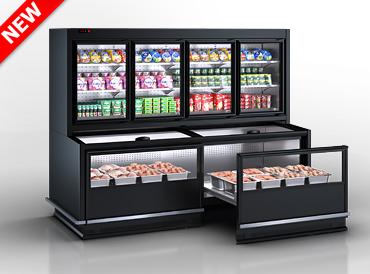Комбіновані холодильні вітрини Alaska combi MHV 110 MT D/C 200-DLM (Відкрита бонета для викладки продукції )